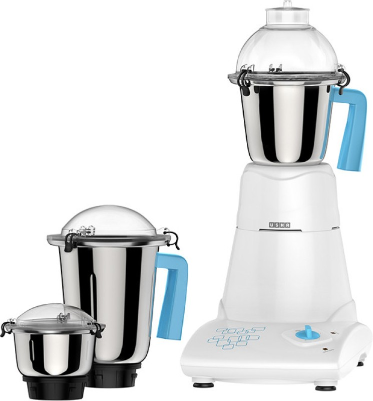 Usha MG 3473 750 W Mixer Grinder(Multicolor, 3 Jars)