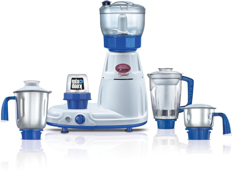 Prestige Mixer Grinders Delux Total Ls 750 W Juicer Mixer Grinder(White, Blue, 5 Jars)