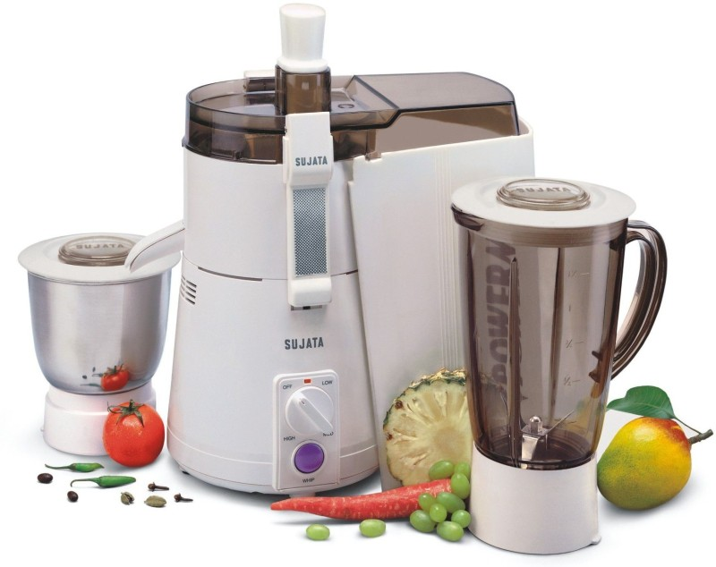Sujata Powermatic Plus 810 W Juicer Mixer Grinder(White, 2 Jars)