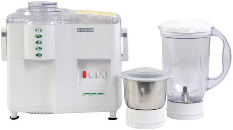 Usha 3442 Classic 450 W Juicer Mixer Grinder(White, 2 Jars)