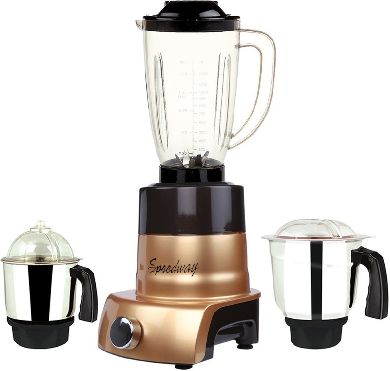 speedway MA ABS Body MGJ WOF 2017-171 750 W Juicer Mixer Grinder(Gold, 3 Jars)