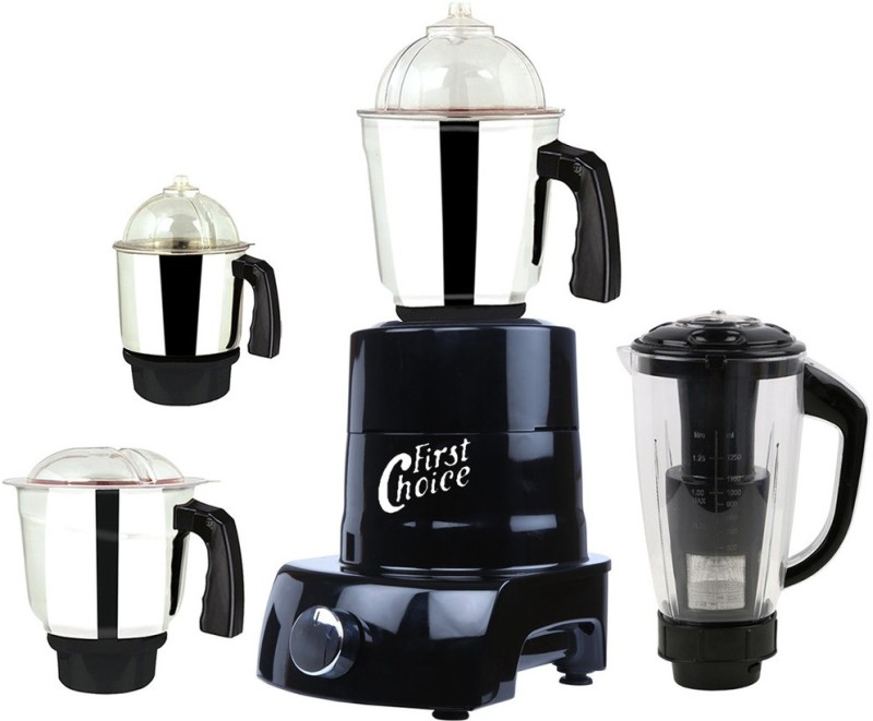 First Choice ABS Body MGJ 2017-97 600 W Mixer Grinder(Black, 4 Jars)