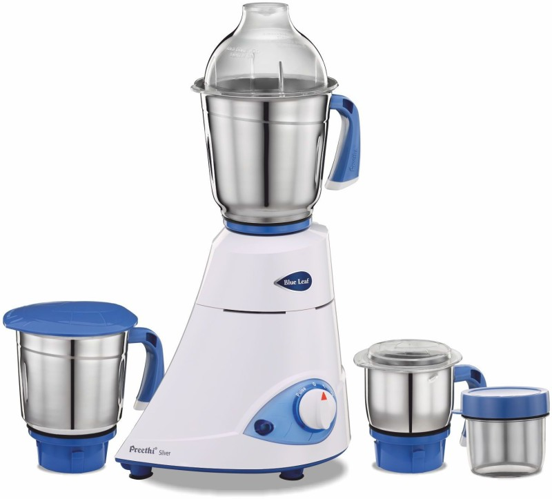 Preethi Blue Leaf MG-149 600 W Mixer Grinder(White, 3 Jars)