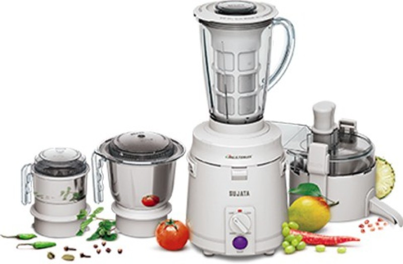 SUJATA 01 Multimix 810 W Juicer Mixer Grinder(White, 4 Jars)