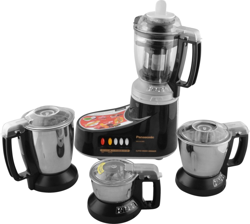 Panasonic MX-AC400B MX-AC400 (BLACK) 550 W Juicer Mixer Grinder(Black, 4 Jars)