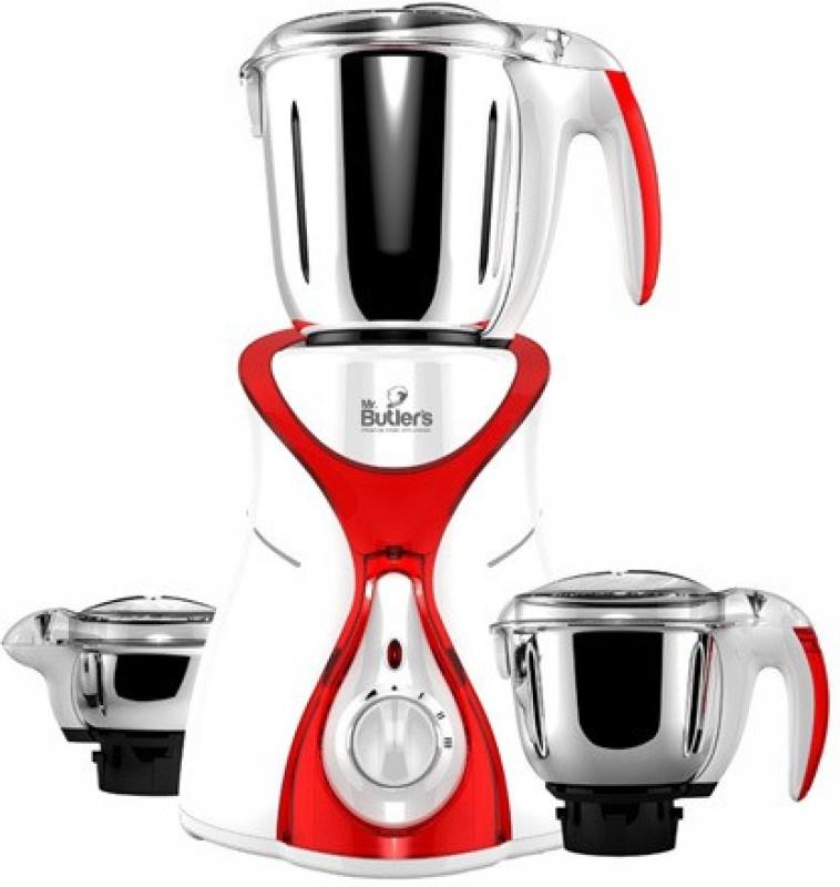 Mr. Butler MX 01 MG MX01 Red 550 W Mixer Grinder(Red, 3 Jars)