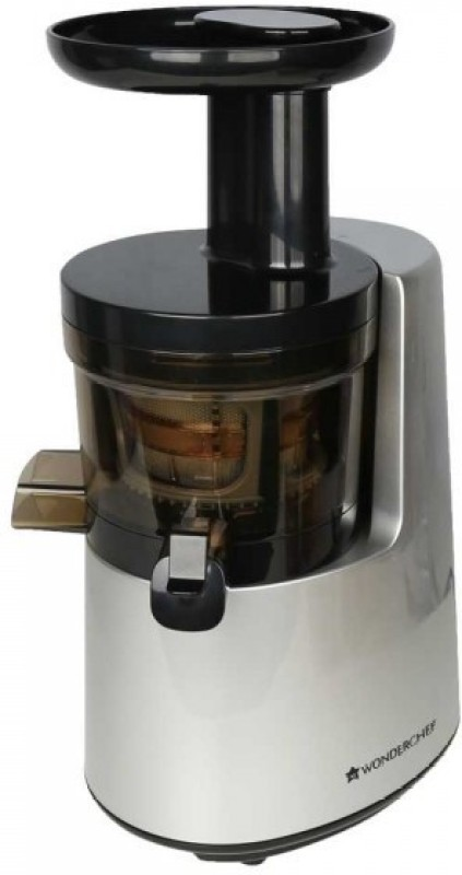 Wonderchef Cold Press Juicer - V6 200 W Juicer(Black, Silver, 2 Jars)