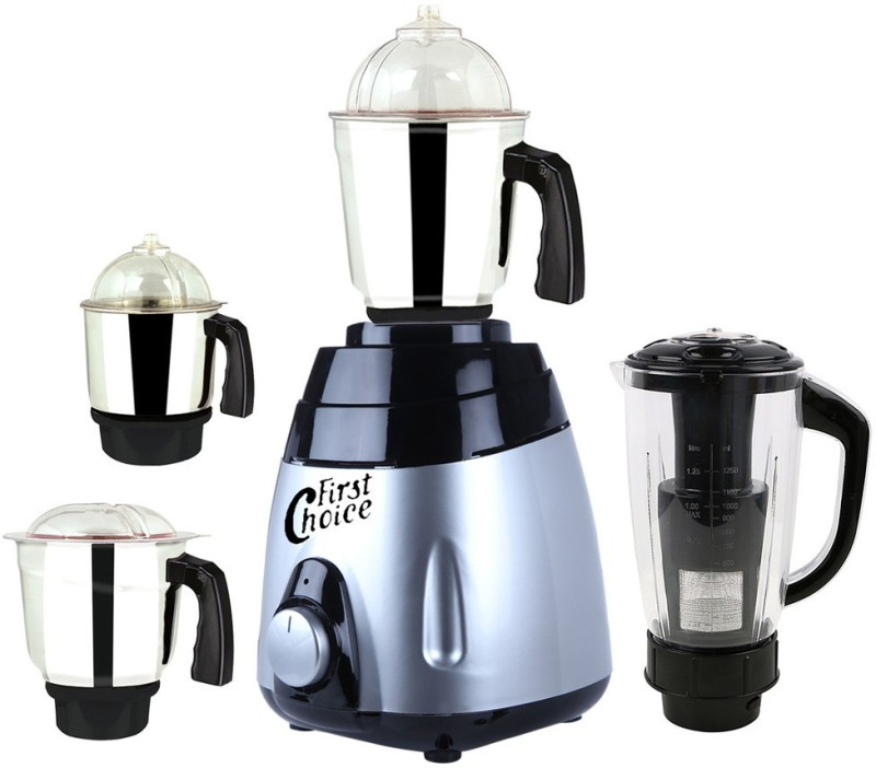 First Choice ABS Body MGJ 2017-33 750 W Mixer Grinder(Multicolor, 4 Jars)
