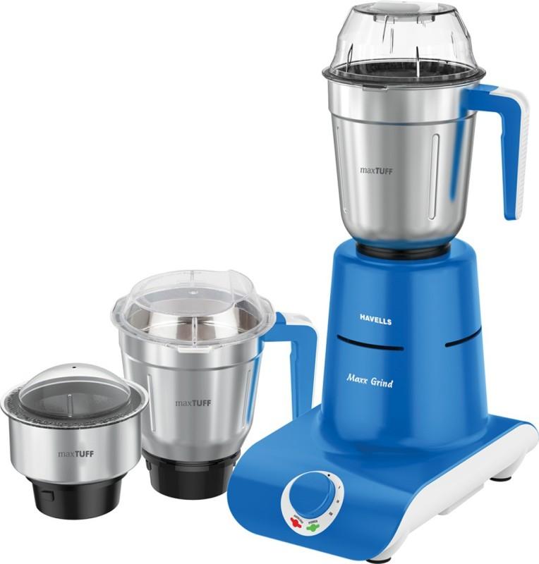 Havells MaxxGrind 750 W Mixer Grinder(Blue, 3 Jars)