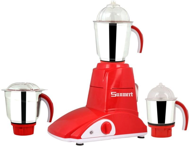 Sunmeet SM-45 600 W Mixer Grinder(Multicolor, 3 Jars)