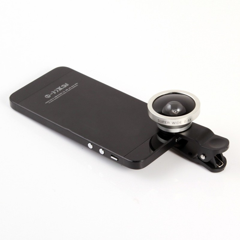 SYL CLIP LENS/3 IN 1 PHOTO LENS/CAMERA LENS FOR Micromax Canvas Play Q355 Mobile Phone Lens(Fisheye, Wide and Macro)