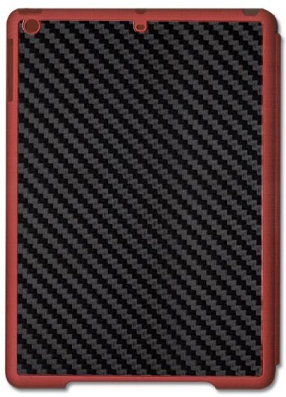 SKIN4GADGETS Black Carbon Fiber Texture Tablet Designer RED SMART CASE for APPLE IPAD AIR2 APPLE IPAD AIR2 Mobile Skin(Multicolor)