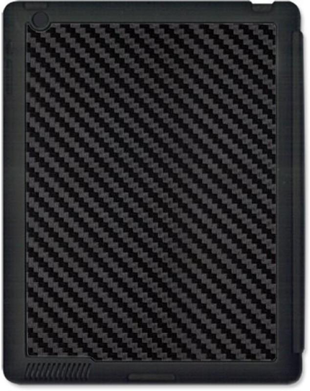 SKIN4GADGETS Black Carbon Fiber Texture Tablet Designer BLACK SMART CASE for APPLE IPAD 3 APPLE IPAD 3 Mobile Skin(Multicolor)