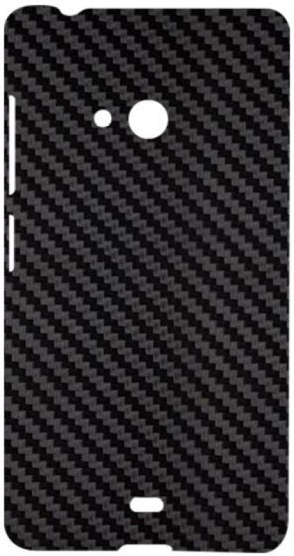 SKIN4GADGETS Black Carbon Fiber Texture Phone Designer CASE for MICROSOFT LUMIA 540 MICROSOFT LUMIA 540 Mobile Skin(Multicolor)