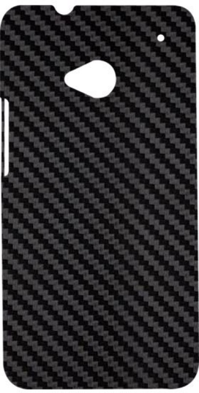 SKIN4GADGETS Black Carbon Fiber Texture Phone Designer CASE for HTC ONE M7 HTC ONE M7 Mobile Skin(Multicolor)