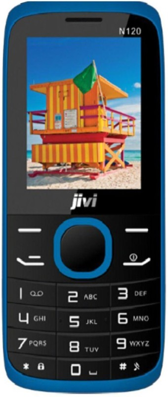JIVI N120 Without Charger and Hands-free(Black & Blue) image