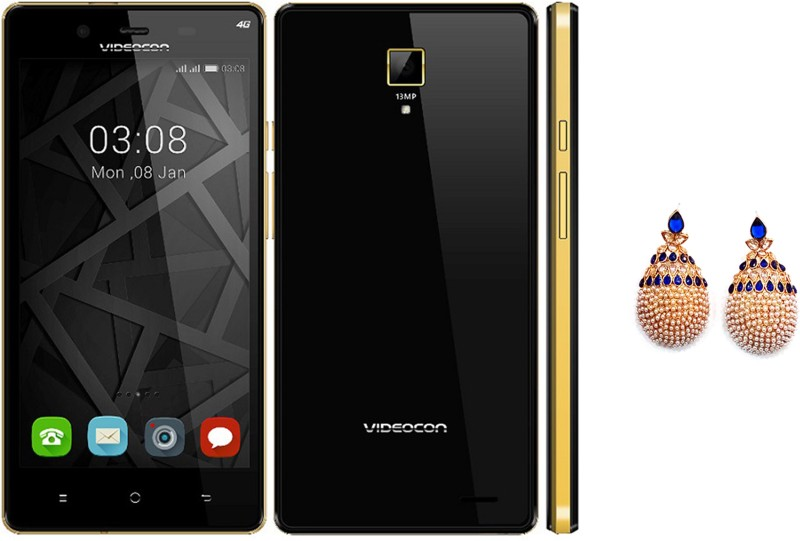 Videocon Z55 Krypton (Black and Gold, 16 GB)(2 GB RAM)