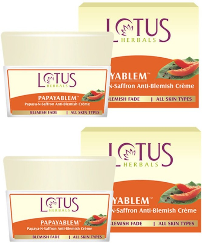 Lotus Papayablem Papaya-N-Saffron Anti-Blemish Creme(100 g)
