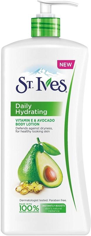 St. Ives Daily Hydrating Vitamin E & Avocado Body Lotion(620 ml)