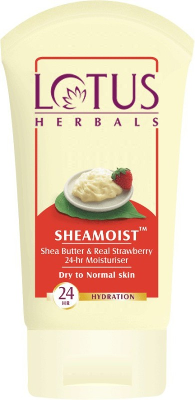 LOTUS HERBALS Sheamoist Shea Butter & Real Strawberry 24hr Moisturizer(120 g)