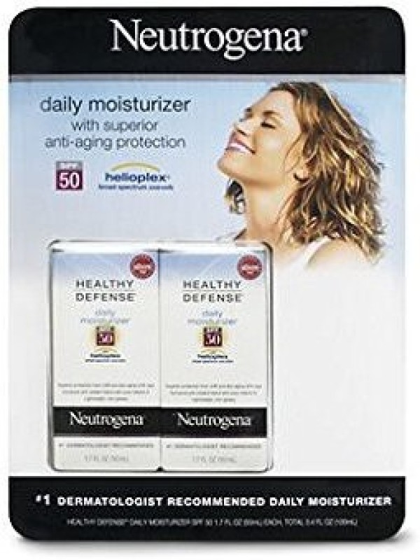Neutrogena Healthy Defense Daily Moisturizer Helioplex, Fl. , 2-pk(51 ml)