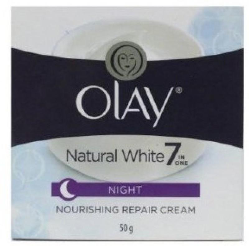 Olay Natural White 7 In One Night Nourishing Repair Cream(50 g)