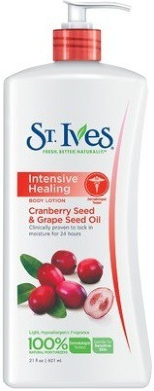 St. Ives Intensive Healing Body Lotion With Cranberry Seed & Grape Seed Oil(621 ml)