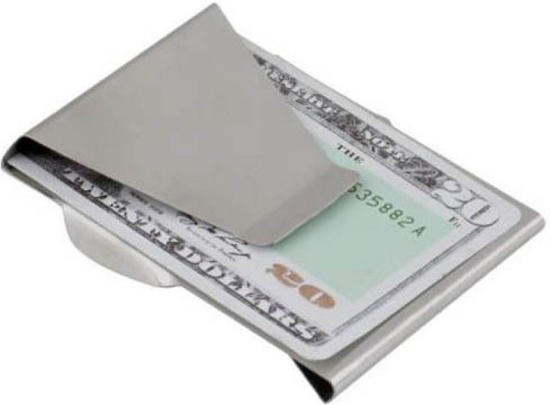 Slim Clip Pocket Wallet Stainless Steel Money Clip(Steel)