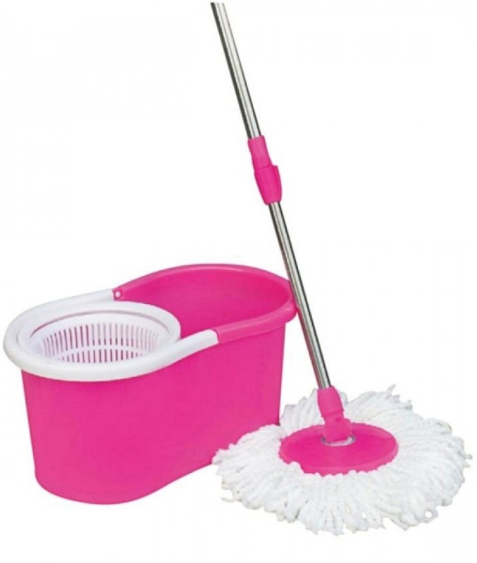 OTC Rotary Floor Cleaning Mop String Mop(Pink)