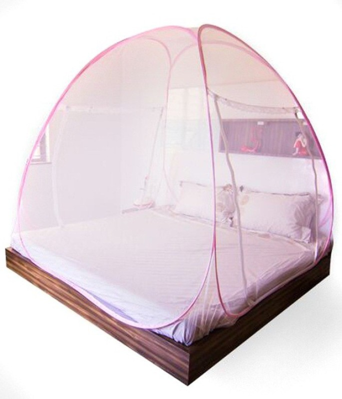 Shopethnic Polyester Adults MNETPINK Mosquito Net(Pink)