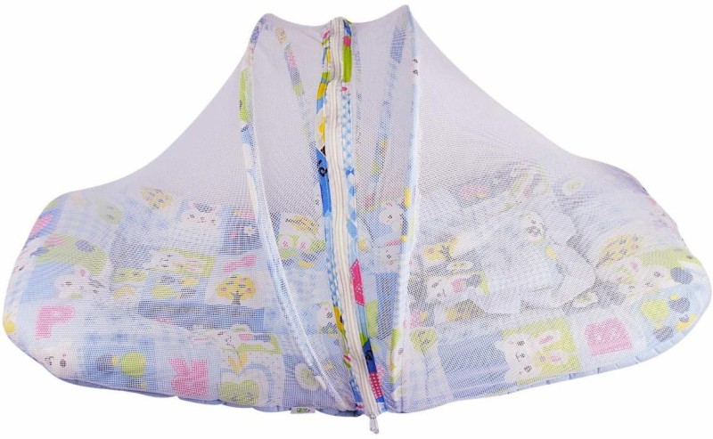 Baby World's Rising Kids Infants Cots & Cribs Bed Mosquito Net(Blue)