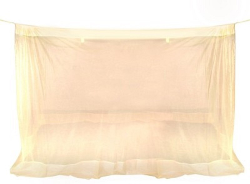 Purabi Nylon Adults Double Bed Mosquito Net(Cream)
