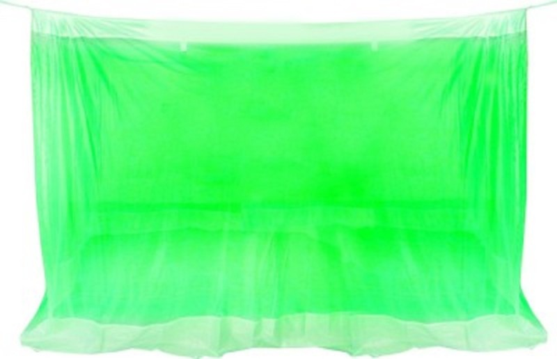 Purabi Nylon Adults Double Bed Mosquito Net(Green)