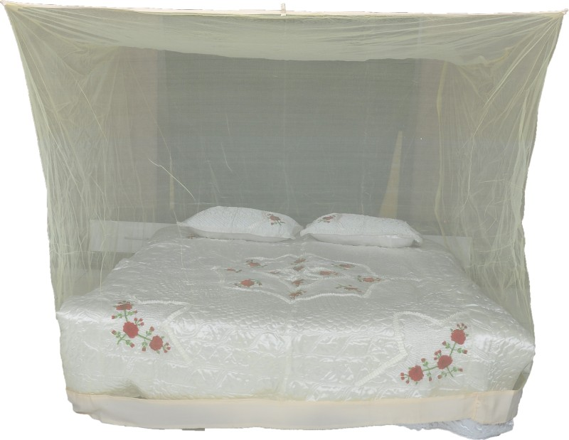 Riddhi Nylon Adults mtr14 square (4x6) cream with border Mosquito Net(Cream)