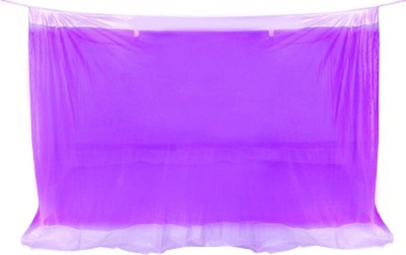 Purabi Nylon Adults Double Bed Mosquito Net(Purple)