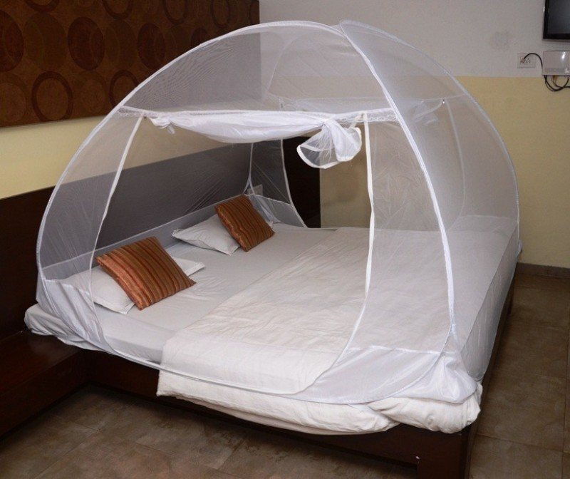 Classic Polyester Adults Net Double bed Premium Mosquito Net(White) Net Double bed Premium