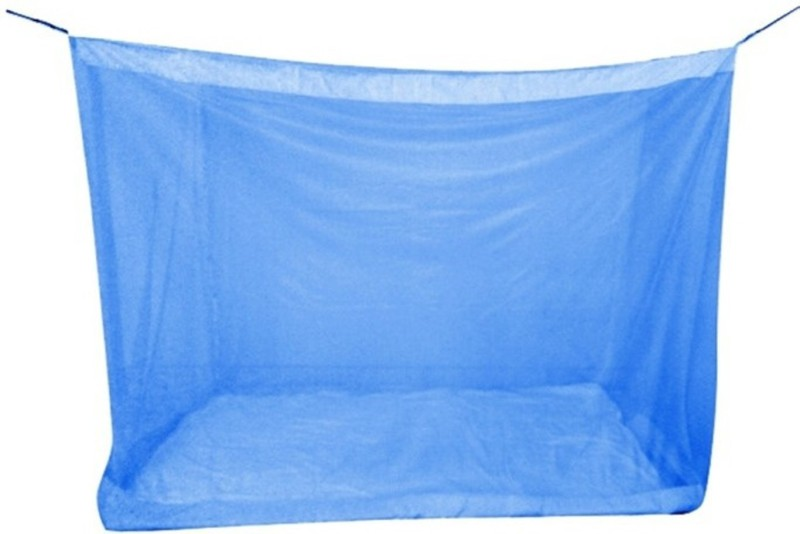 Pin to Pen Nylon Adults Mosquito Net for Double Bed (4 X 6) Mosquito Net(Blue)