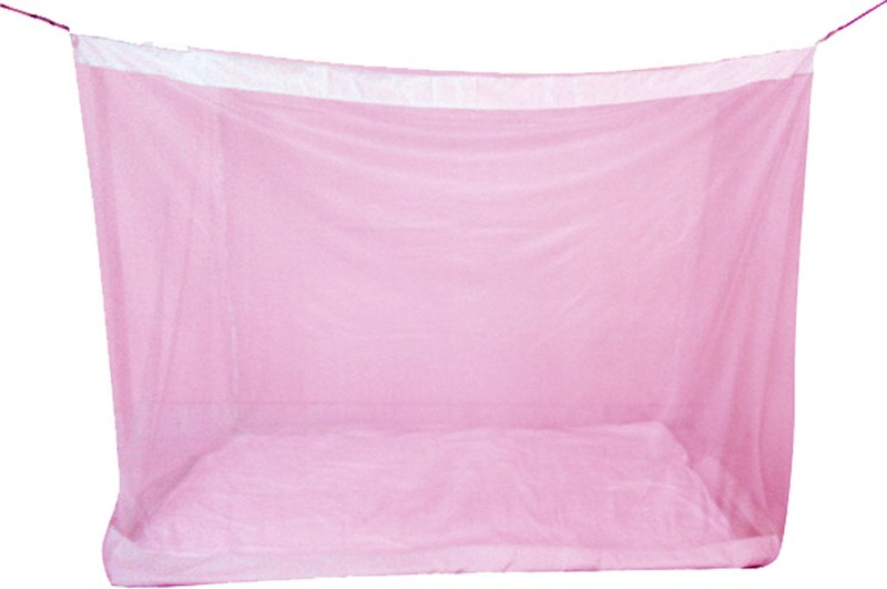 Mosnet Nylon Adults 5.5x6.5 feet Polynet Hanging Mosquito Net(Pink)