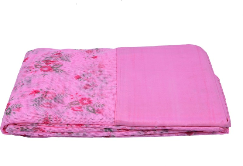 Fashion Centre Printed polyester Infants Double Bed Mosquito Net(Pink)