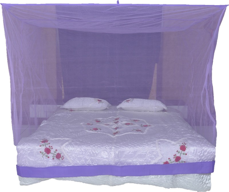 Riddhi Nylon Adults square 14 mtr purple with border (6.5x6.5) Mosquito Net(Purple)
