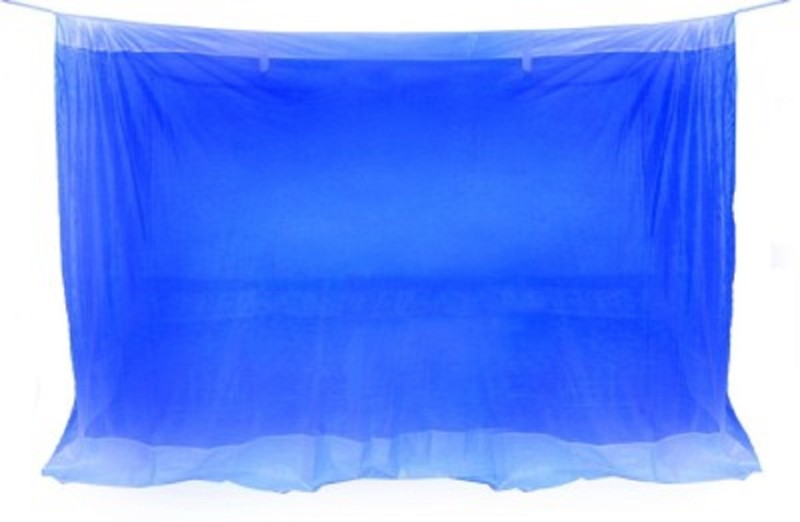 Purabi Nylon Adults Double Bed Mosquito Net(Blue)