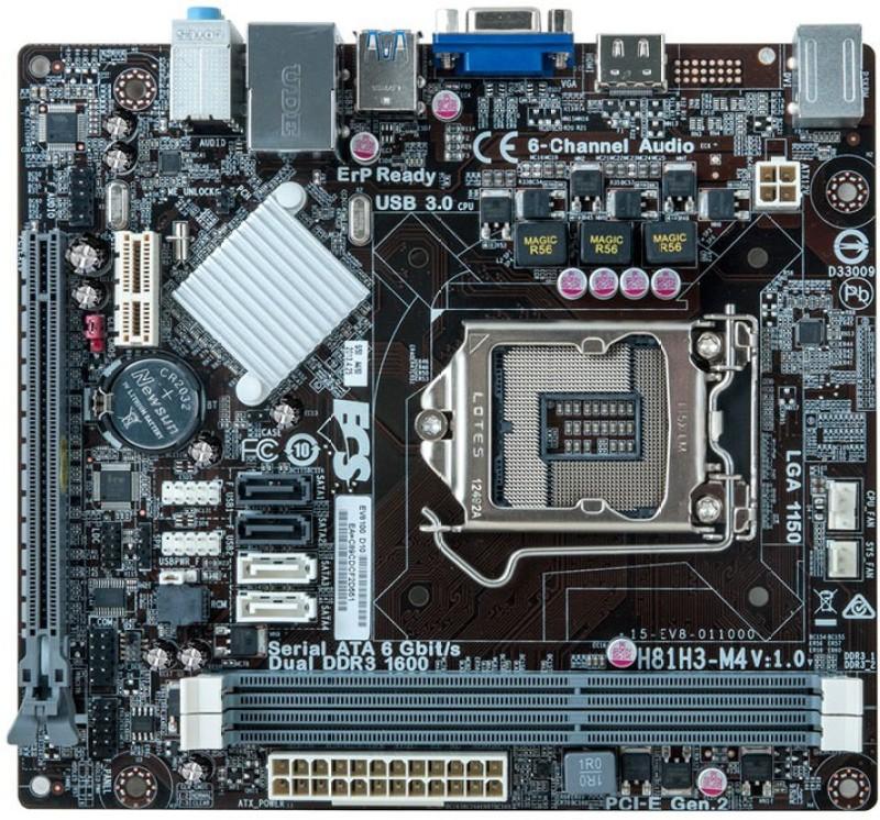 ECS H81H3-M4 Motherboard(Black) image