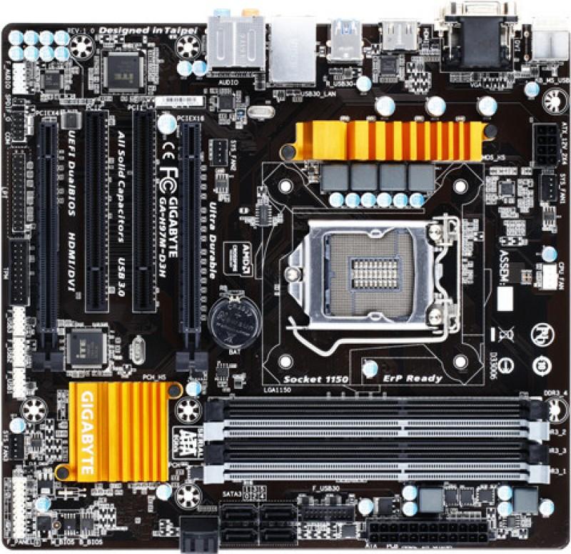 Gigabyte GA-H97M-D3H Motherboard(Black) image