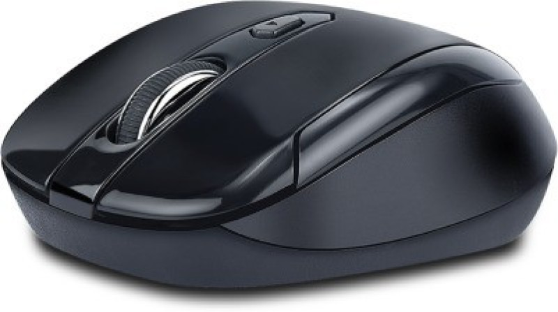 iBall Free Go G6 Wireless Optical Mouse(USB, Black/Full Black)
