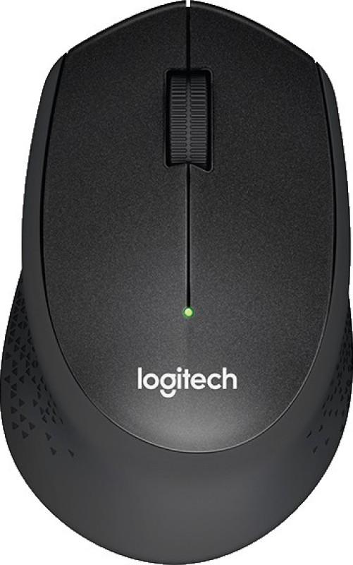 Logitech M330 Silent Plus Wireless Optical Mouse(USB, Black)