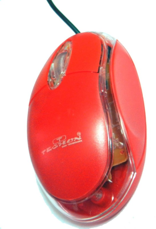 TECHON TO-B66 Wired Optical Mouse(USB, Red)