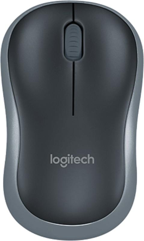 Logitech M185 Wireless Optical Mouse(USB, Grey)