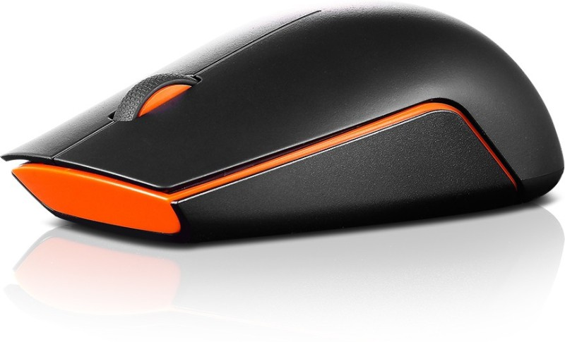 Lenovo 500 Wireless Optical Mouse(USB, Black)