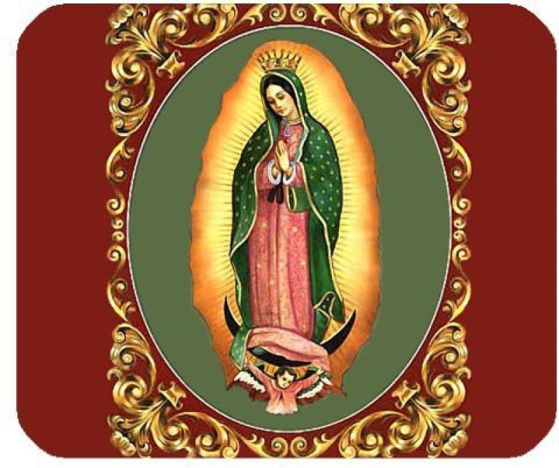 Magic Cases Our Lady of Guadalupe Virgin Mary Mini Design Mousepad(Multicolor)