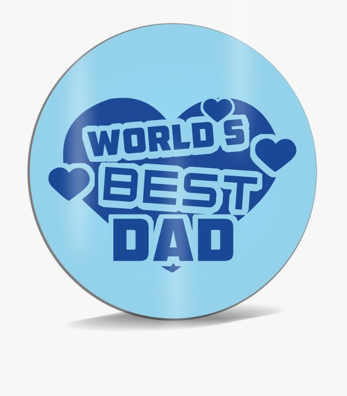 SKY TRENDS World 's Best Dad With Blue Heart Background Best Gifts For Dad Father's Day Mousepad(Multicolor)
